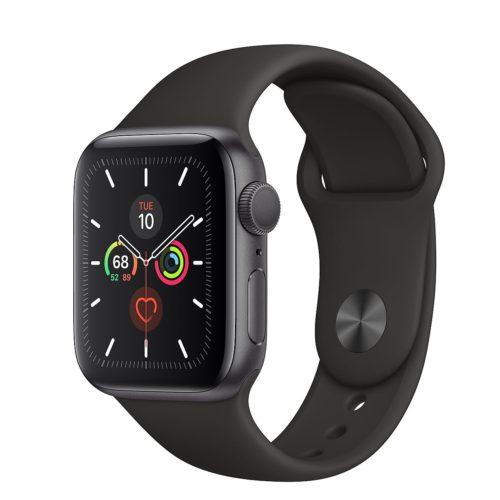 Đồng hồ Apple Watch Series 5 GPS Only, Aluminum – Black Sport Band – Hàng nhập khẩu – Space Gray – 40mm