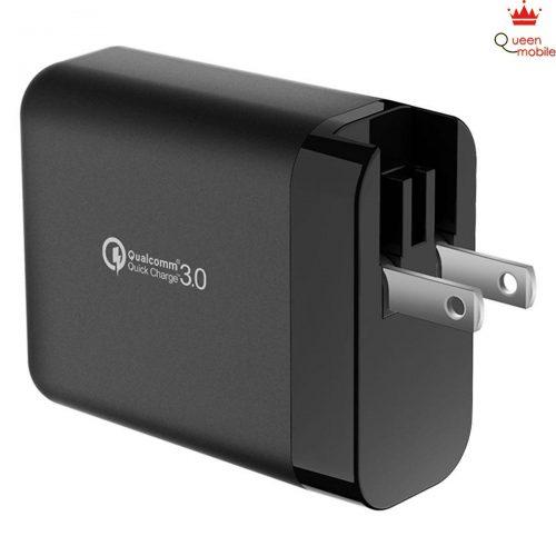 Adapter Sạc JCPAL Travel Multiport QC 3.0 – Đen – Hàng chính hãng