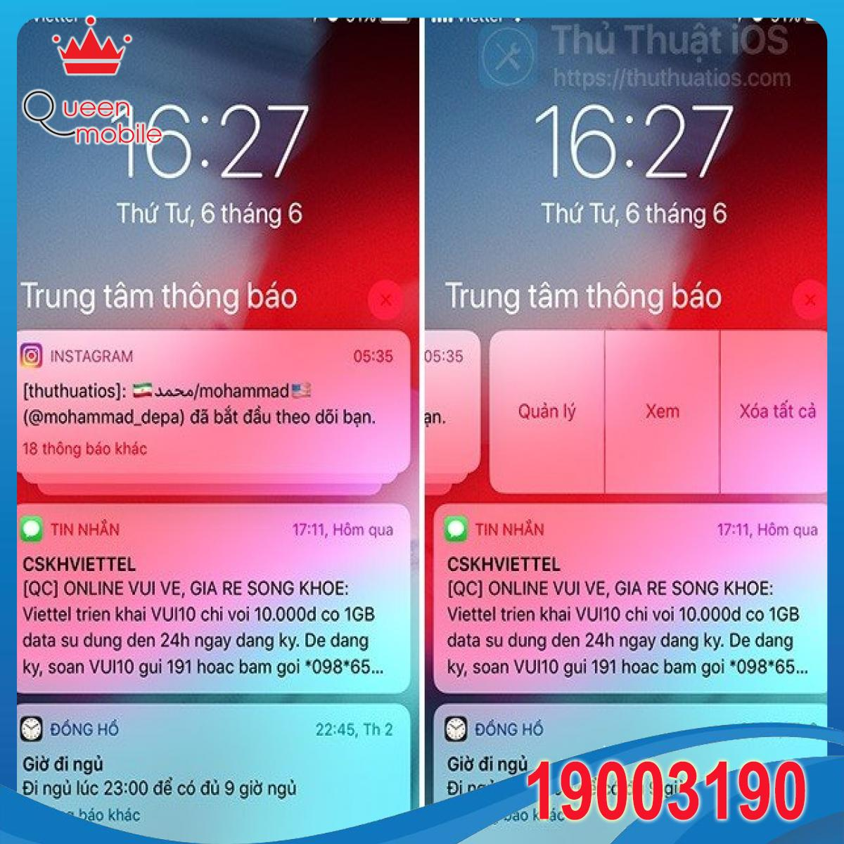 Cách thay đổi nhanh cài đặt thông báo cho bất kỳ ứng dụng nào trong iOS 12